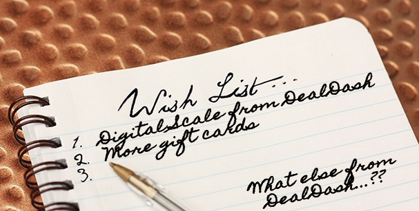 DealDash Bidders Wish List