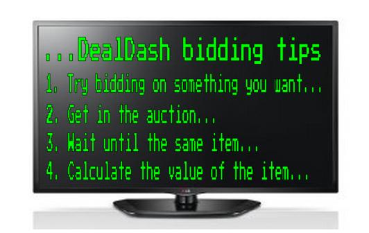 DealDash Bidding Tips