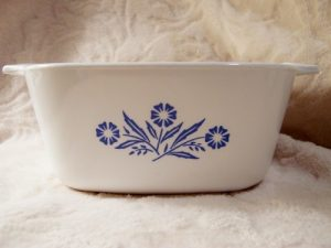 Corningware White Blue Flowers