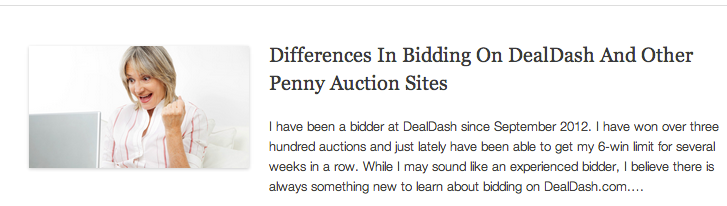 Differences In Bidding On DealDash And Other Penny Auction Sites