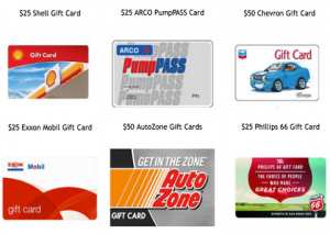 DealDash Gas Gift Cards