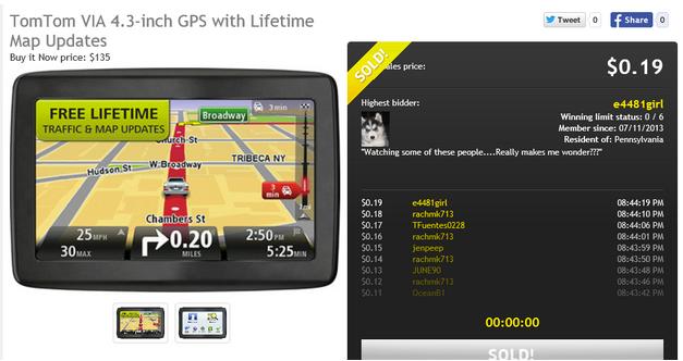 navigation won on DealDash