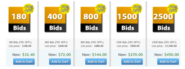 Bid Packs for sale on DealDash