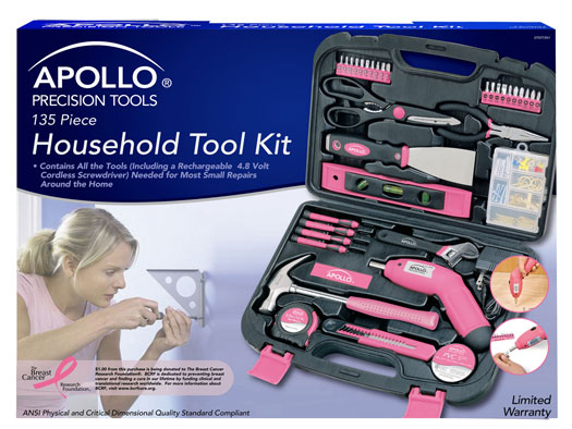 Apollo Precision Tool Kits for ladies in pink