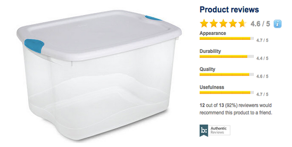 sterilite storage containers